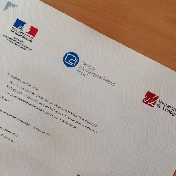 Exemple de certificat